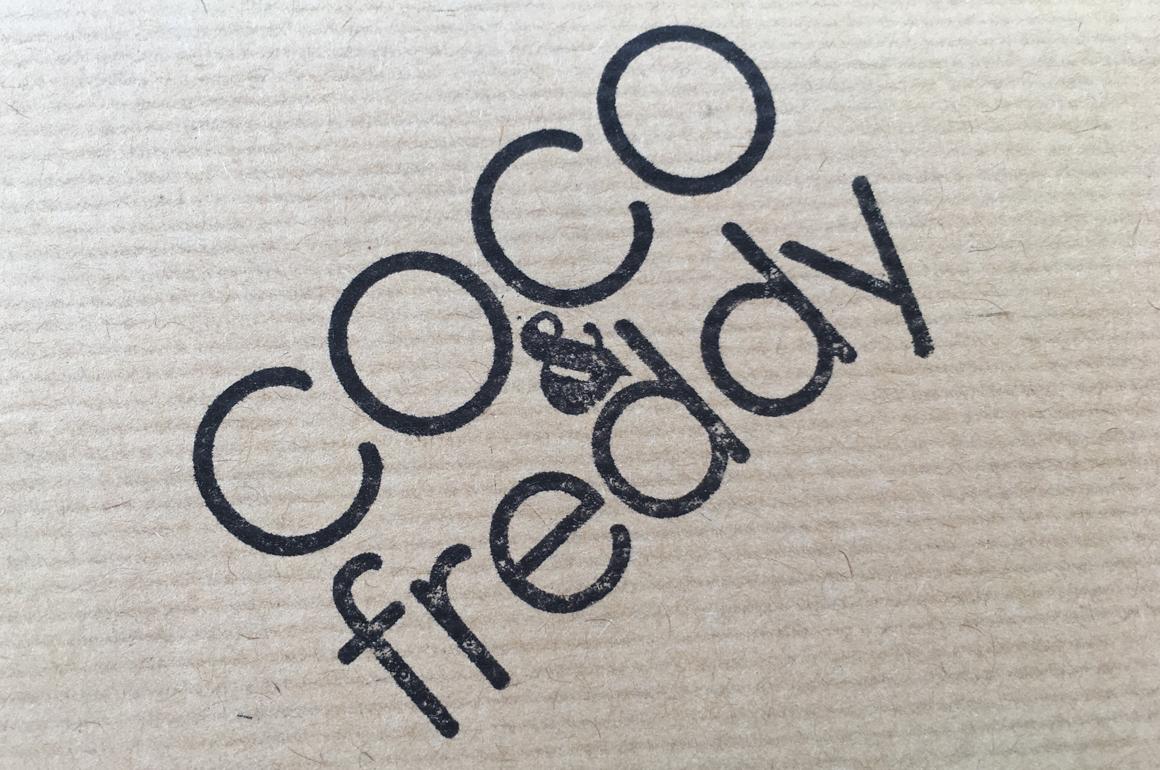 Le logo COCO&freddy sous forme de tampon Tamporelle.